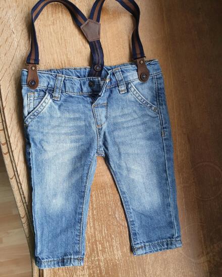 Jeans met bretels mt 62/68