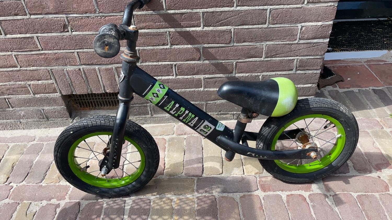 Loopfietsje zwart/groen