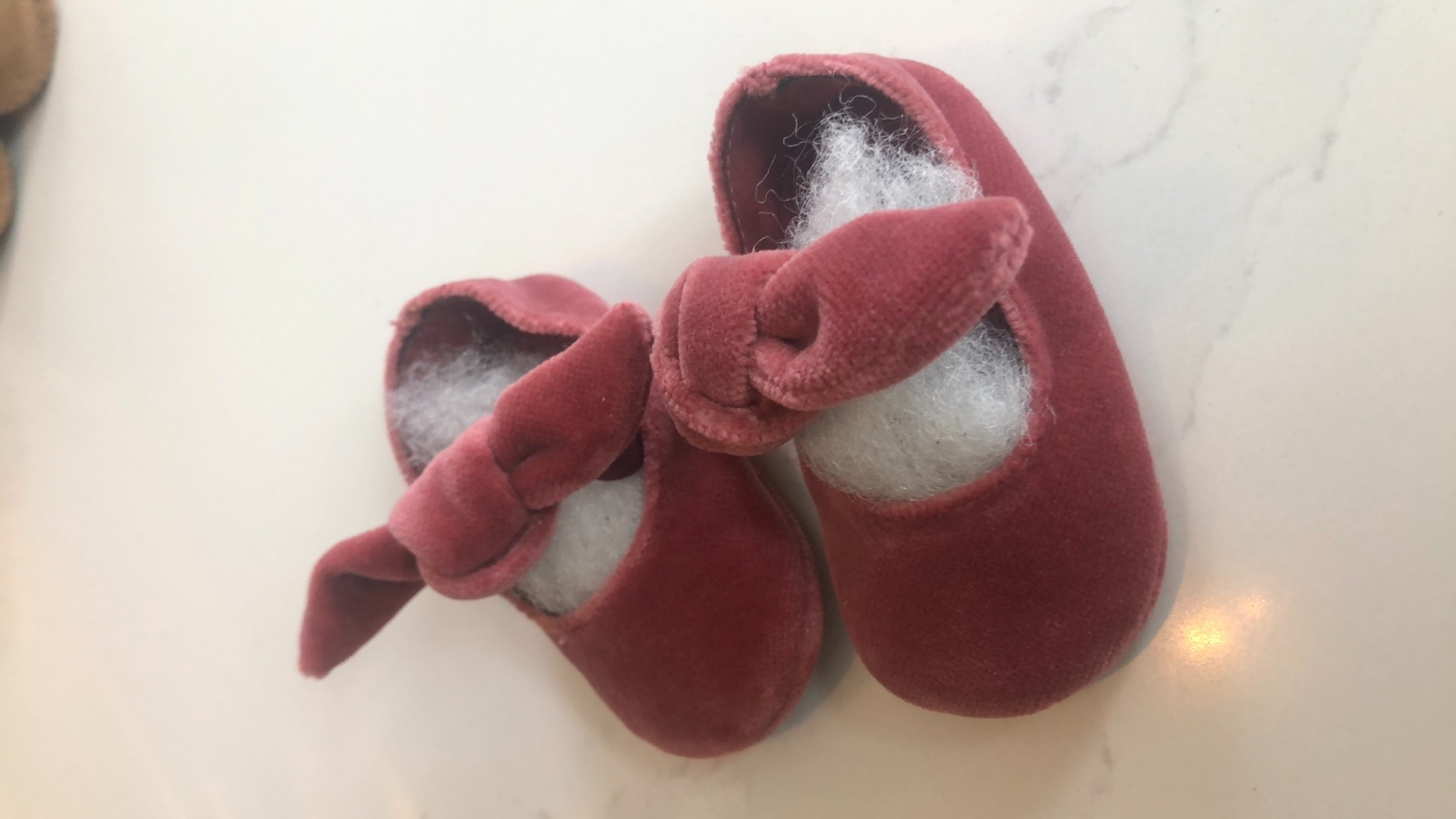 Roze babyschoentjes