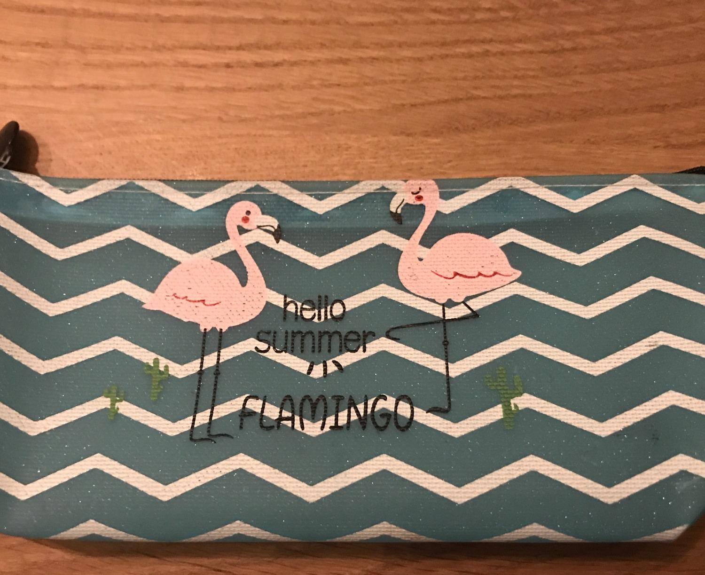 Leuke etui met flamingo's