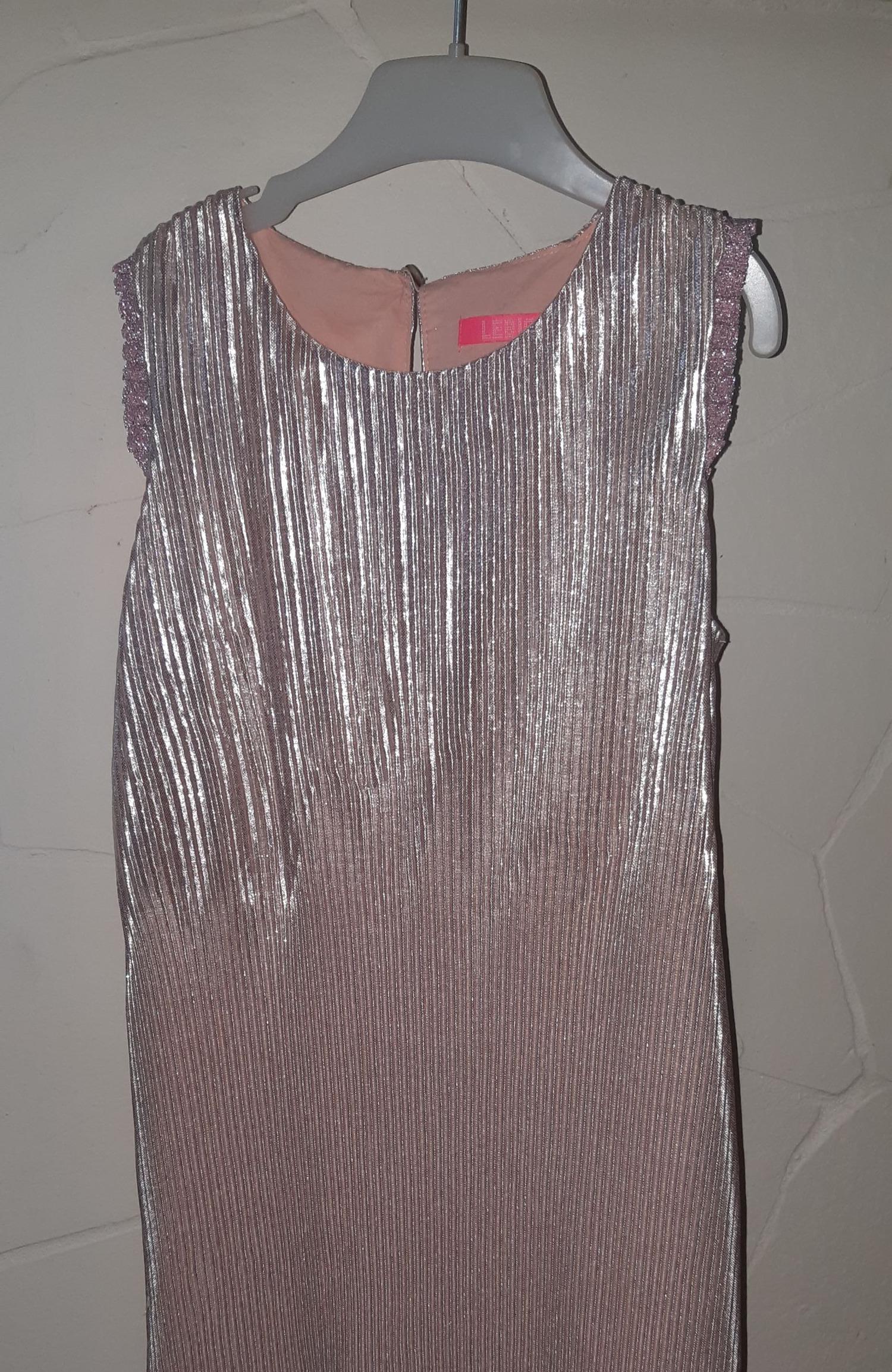 Meisjes jurk roze metallic