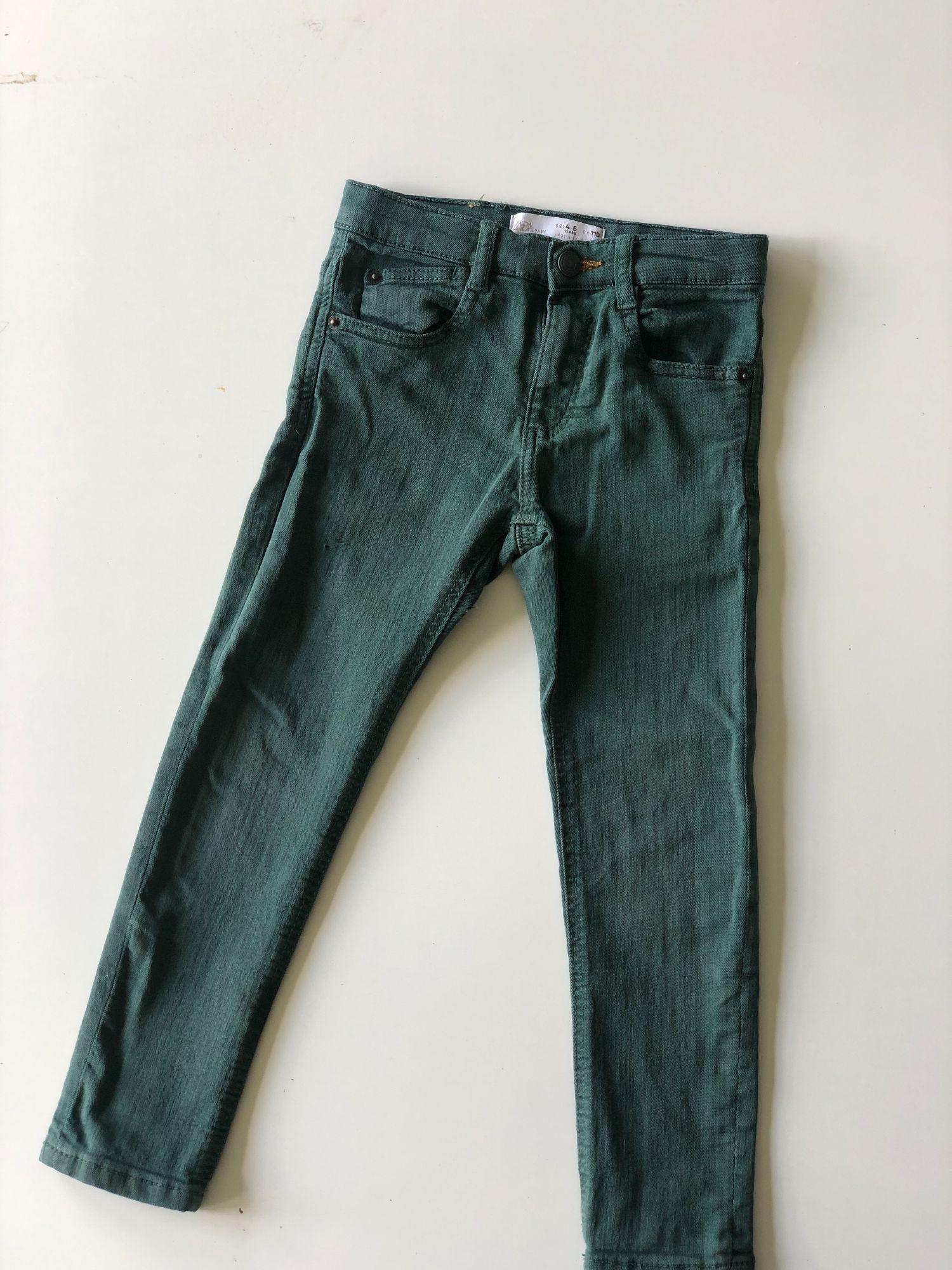 Groene skinny jeans Zara