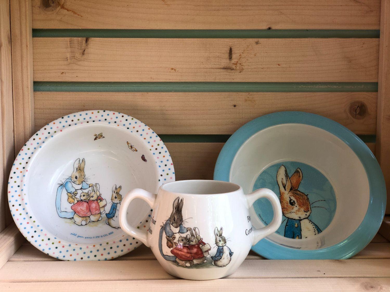 Peter Rabbit/ Pieter Konijn servies setje