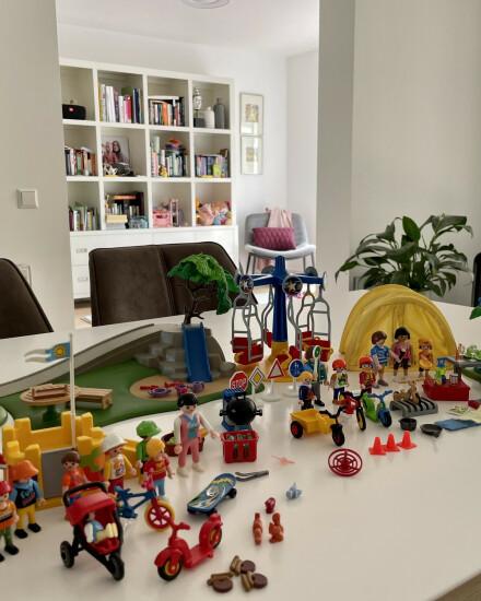 Playmobil speeltuin, kamperen en verkeer