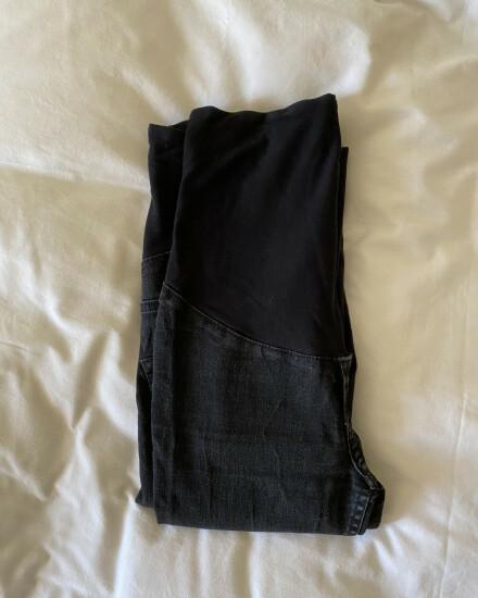 Zwangerschapsbroek zwart jeans mt 36