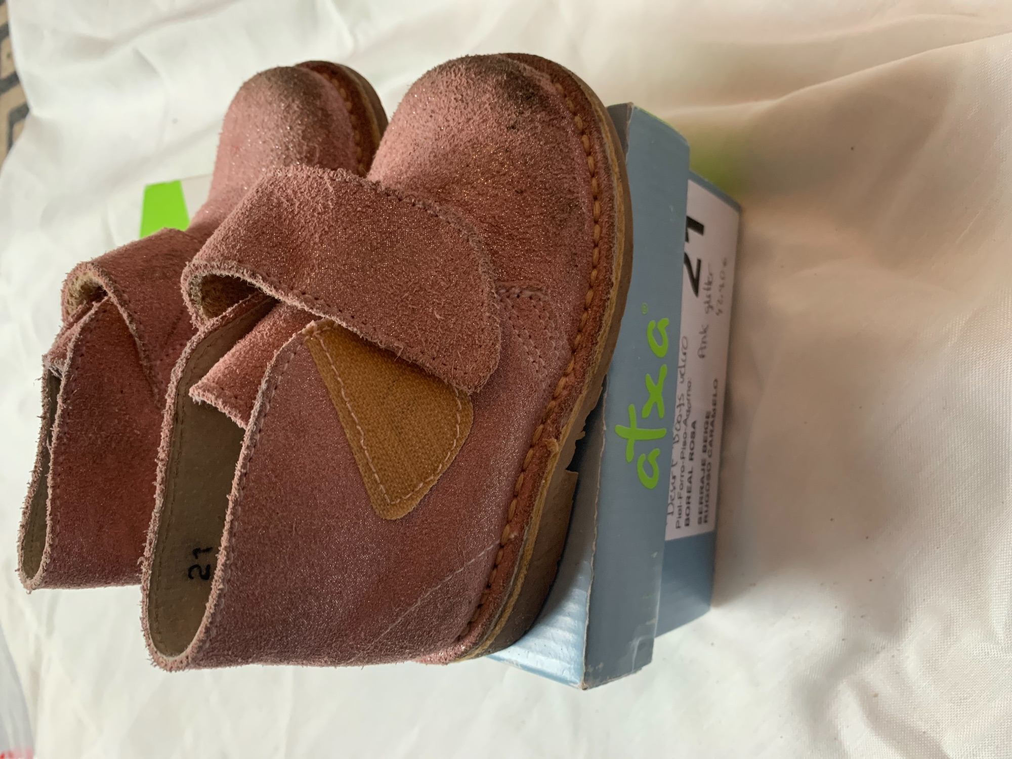 Desert boots roze met glitter