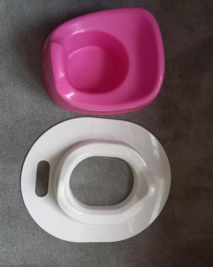 Roze potje en wcbril- verkleiner