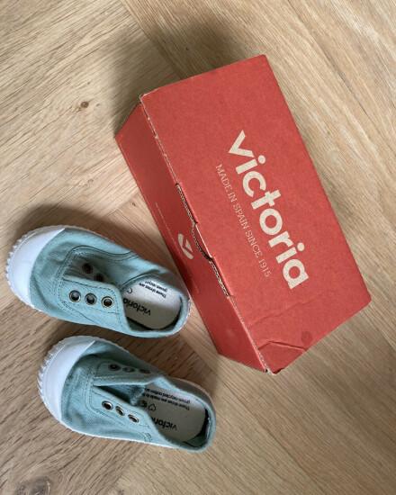 Victoria schoentjes groen maat 20