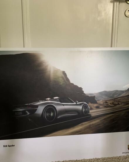 Porsche hardboard posters