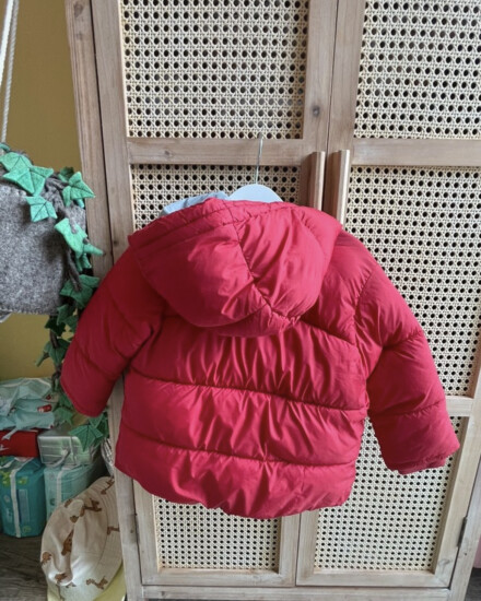 Zara winter jas rood maat 98